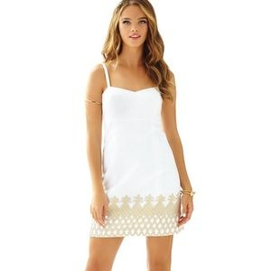 Lilly Pulitzer white Pineapple Dress. Size 0.